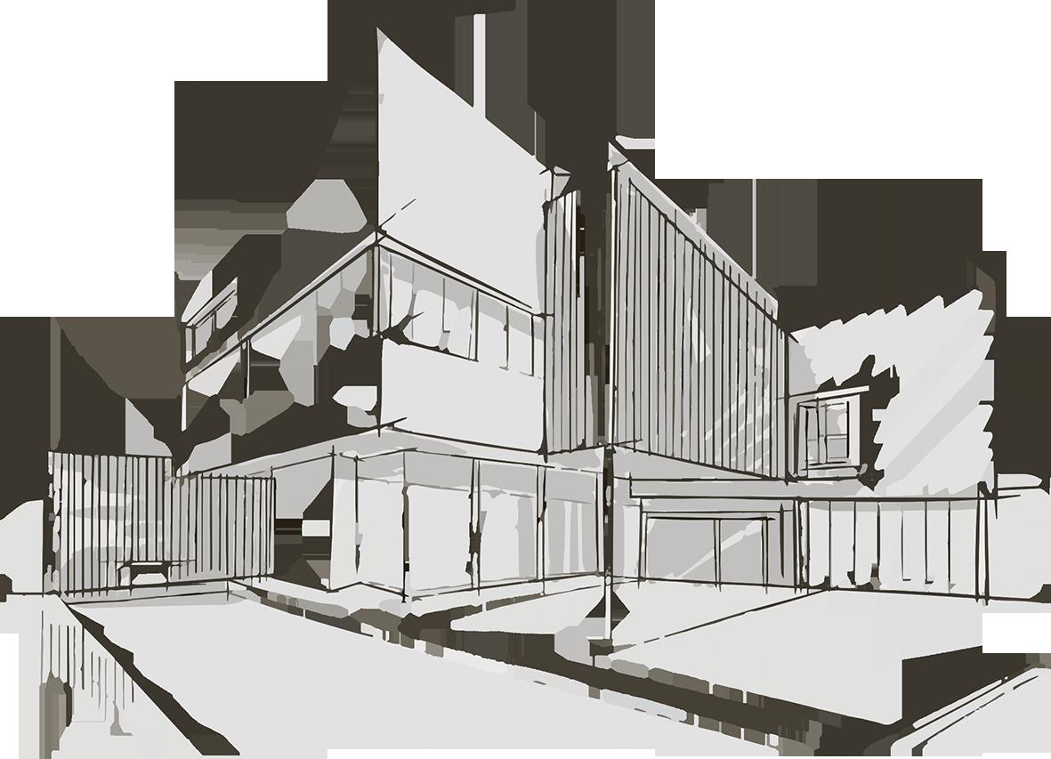 skica domu