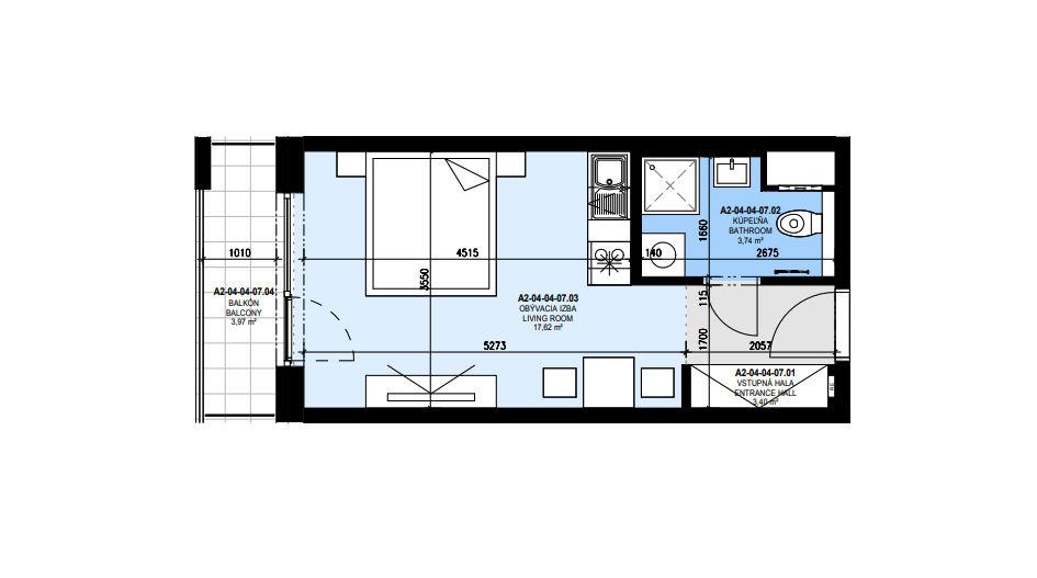 predaj 1 izbový byt Slnečnice